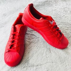 Adidas duperstar Classic Men's red size 12 NWOT